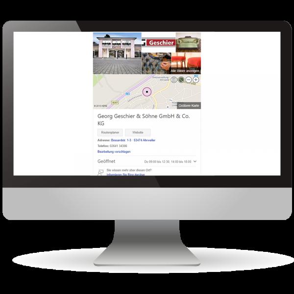 Bing Places-Einträge - Online-Präsenz - Ihr Unternehmen