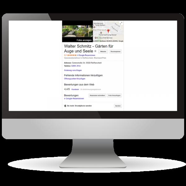 Google My Business-Einträge - Online-Präsenz - Ihr Unternehmen